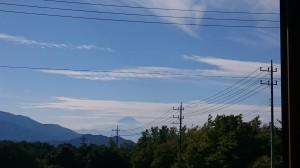 サンルームから富士山
